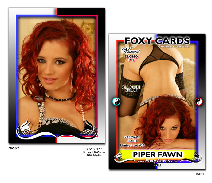 Foxy Cards- Vixens Keepsake Promo Card P12 - PIPER FAWN
