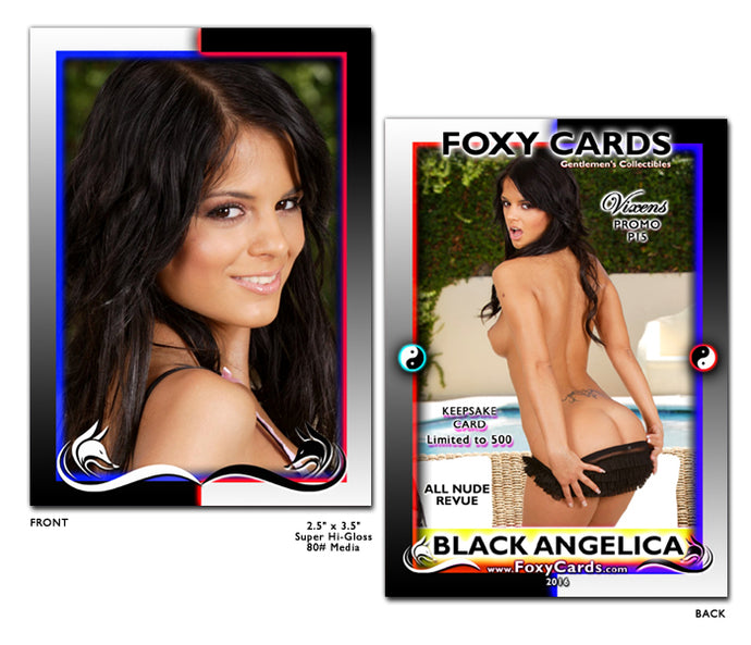 Foxy Cards- Vixens Keepsake Promo Card P15 - BLACK ANGELICA