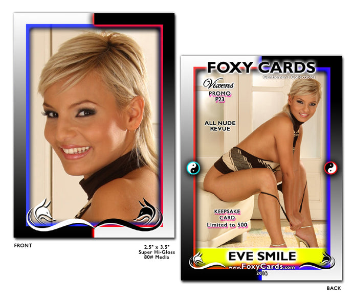 Foxy Cards- Vixens Keepsake Promo Card P23 - EVE SMILE