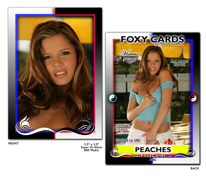 Foxy Cards- Vixens Keepsake Promo Card P7 - PEACHES