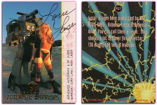 Futuristic Warriors - Gold Foil Authentic Autographed Card - Cory Lang aka Laser
