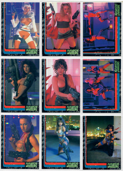 Futuristic Warriors - Complete 32 Card Base Set - Centerfolds of the Future - Studio E