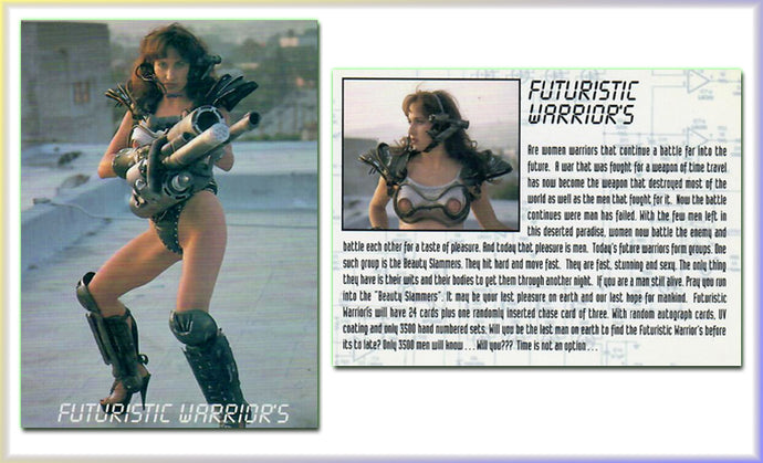 Futuristic Warriors - Promo Card - Time Is Not An Option - Studio E