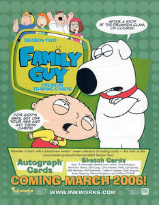 Sell Sheet - Family Guy - Season Two Trading Cards - Inkworks - Counter Slick