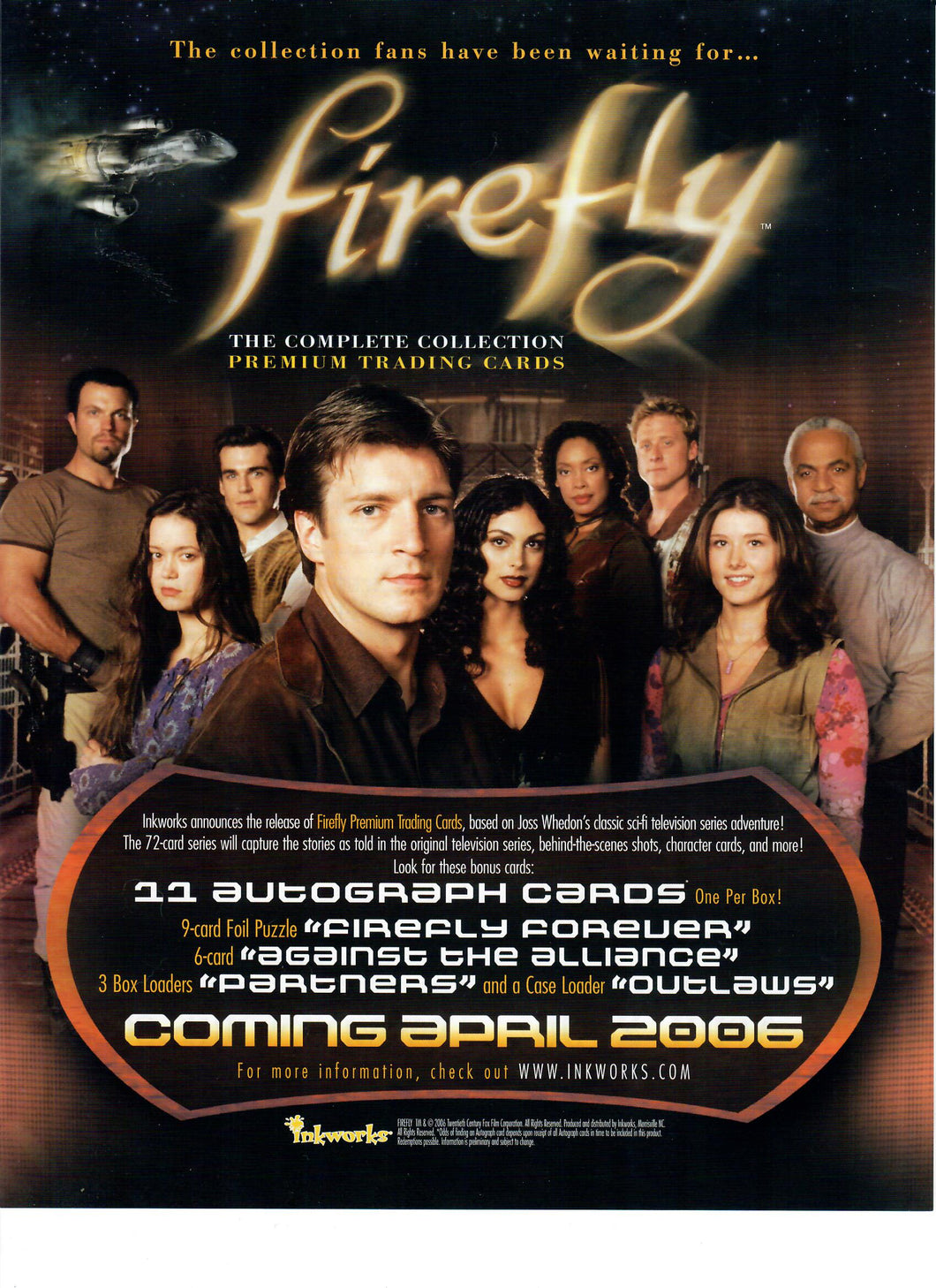 Sell Sheet - FIREFLY - The Complete Collection Premium Trading Cards  - Inkworks - Counter Slick