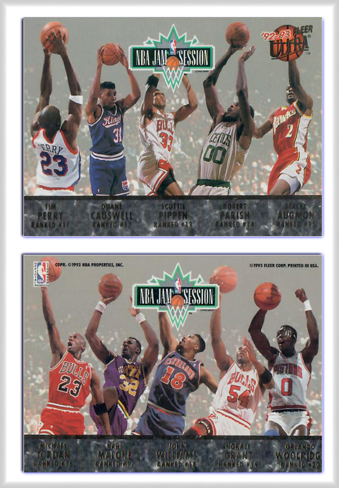 Fleer - ULTRA -  AMA Jam Session - 10 Player Gold Foil - Promo Card - Variation A