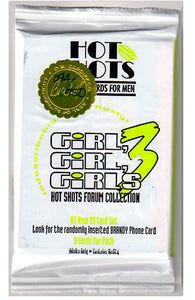 HOT SHOTS - Girls Girls Girls 3 - Official Binder / Numbered COA w/Matching Wax Pack  / Exclusive Binder Card / Chase Set