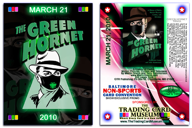 BNSCS - Baltimore Non-Sports Card Show 2010 - THE GREEN HORNET - Promo Card P1