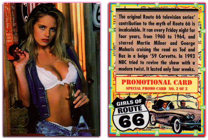 Image 2000 - Girls of Route 66 - BRANDYE - Gold Foil Special Promo Card - 2 of 2