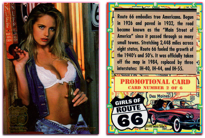 Image 2000 - Girls of Route 66 - BRANDYE - Gold Foil Promo Card - 2 of 6