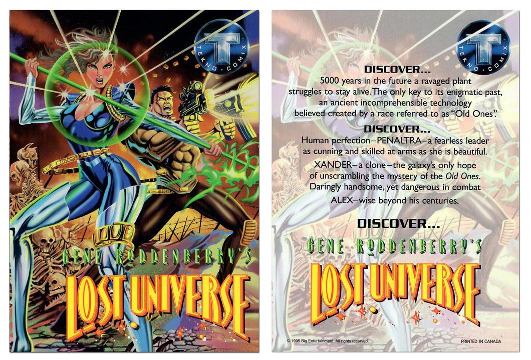 Gene Roddenberry's - Lost Universe - Jumbo 5x7 Promo Card - Tekno Comix