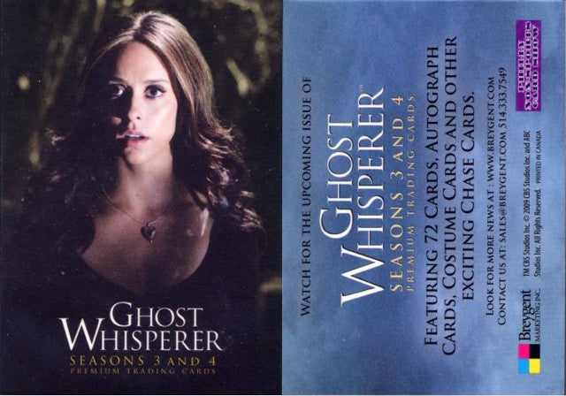Ghost Whisperer - Season 3 & 4 - Promo Card (Philly Non-Sport Card Show Version)