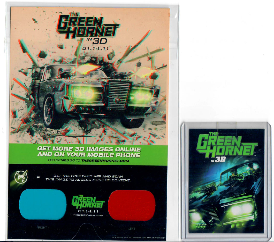 Green Hornet - 3D Movie - 3D Promo Glasses & Promo Card GH1