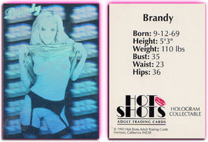 Hot Shots - BRANDY LEDFORD- Hologram Card - 1992