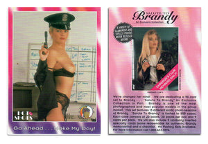 Hot Shots - Brandy Ledford - Salute to BRANDY - Go Ahead Make My Day! Promo Card