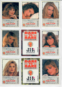 Hot Shots - Dare to Bare - 9 Card Scratch Off - Prototype Set - NOT Scratched