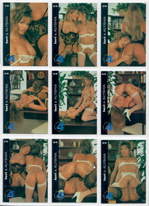 Hot Shots - Girls Girls Girls 4 Play - 9 Card Puzzle Back Subset - Lori & Alyshia