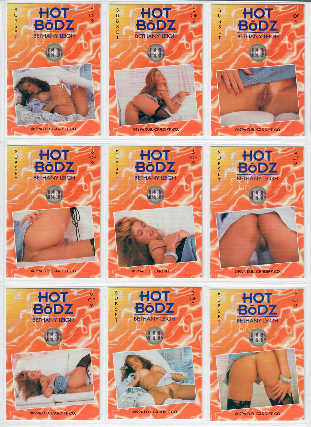 Hot Shots - HOT BODZ - 9 Card Subset - Bethany Leigh