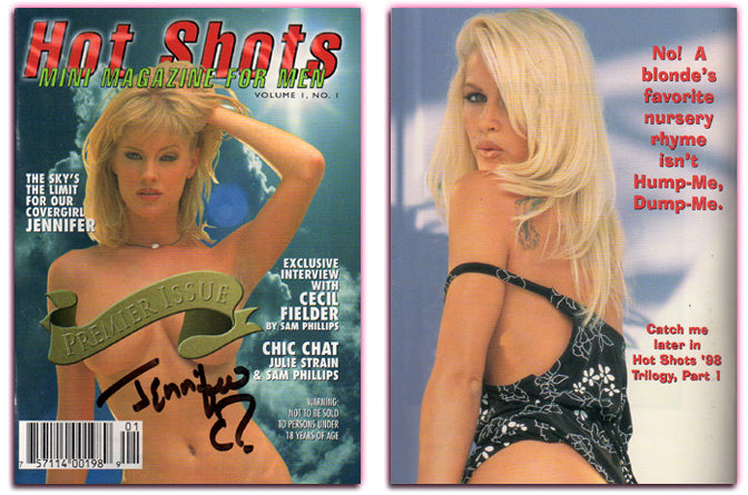 Hot Shots - Mini Magazine - Volume I Number 1 - Autographed JENNIFER Cover Model
