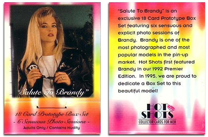 Hot Shots - Brandy Ledford - Salute to BRANDY - 18 Card Prototype Boxed Set