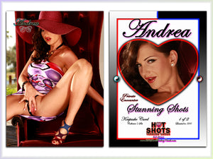 Climax Cards - Hot Shots PRIVATE ENCOUNTER Stunning Shots - 2 Card Jumbo Keepsake SET - ANDREA LaFLEUR