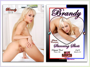 Climax Cards - Hot Shots PRIVATE ENCOUNTER Stunning Shots - 2 Card Jumbo Keepsake SET - BRANDY McQUEEN