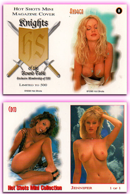 Hot Shots - Mini Magazine - KOTRT - Knights of the Roundtable - 5 Card Mini Card Set - UNCUT