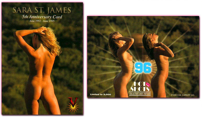 Hot Shots - Series 5 - Da Vinci - 5th Anniversary - SARA ST. JAMES - Limited Edition Card - NON MEMBER