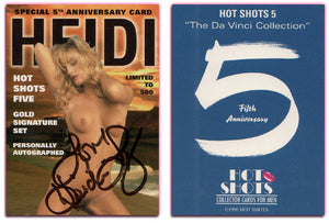 Hot Shots - Series 5 - Da Vinci Collection - Heidi Lynn - Authentic Autographed Card Ltd to 500