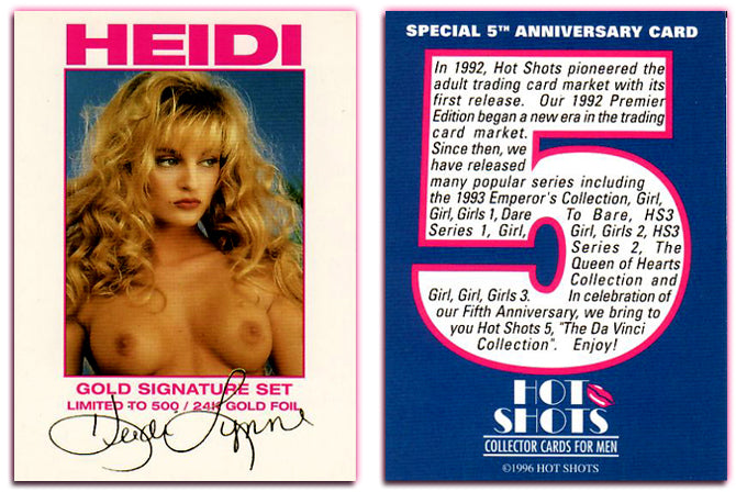 Hot Shots - Series 5 - Da Vinci Collection - Heidi Lynn - Gold Signature Set - WITH Gold Foil Signature