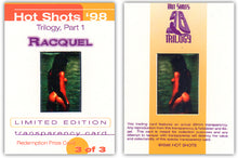Load image into Gallery viewer, Hot Shots - '98 Trilogy Part 1 - RACQUEL DARRIAN - 3 card Transparency Set