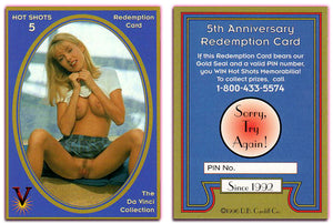 Hot Shots - Series 5 - Da Vinci - 5th Anniversary Redemption Card - Sorry Try Again!