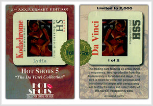Hot Shots - Series 5 - Da Vinci - 5th Anniversary - Kodachrome Transparency - 1 of 2 - Gold Foil & Hand Numbered 308/500