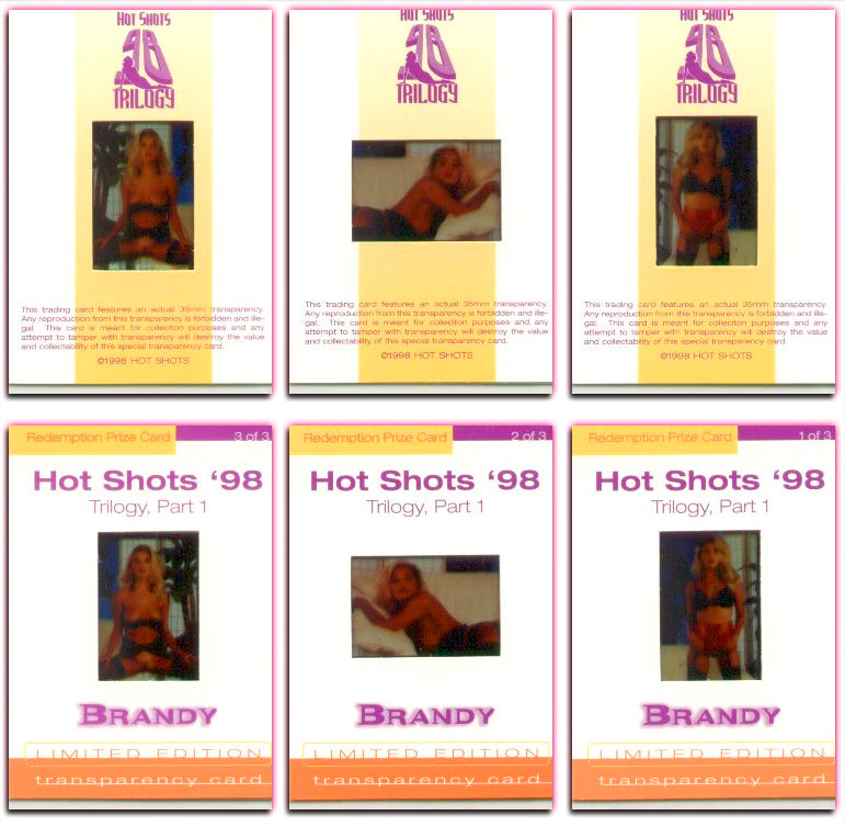 Hot Shots - '98 Trilogy Part 1 - BRANDY LEDFORD 3 card Transparency Set