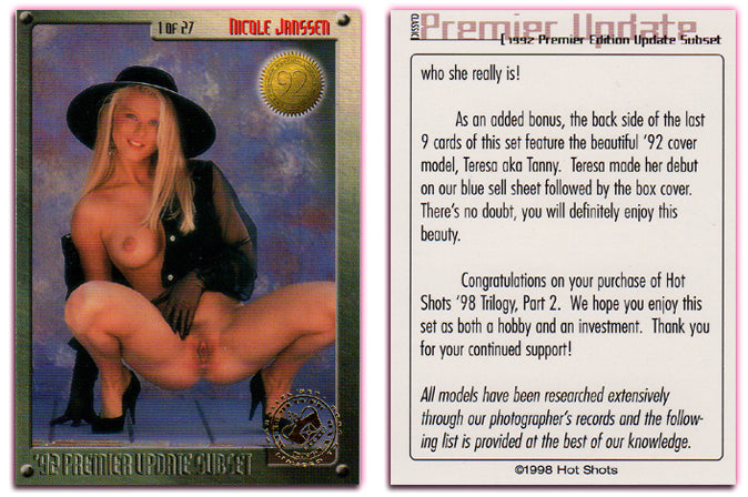 Hot Shots - '98 Trilogy Part 2 - Complete 27 Card Premiere Update Edition - Gold Foil PARALLEL Card Set