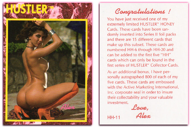 HUSTLER - HONEY Card HH-11 - ALEX - (Series II)