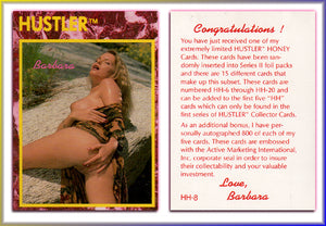 HUSTLER - HONEY Card HH-8- BARBARA - (Series I)