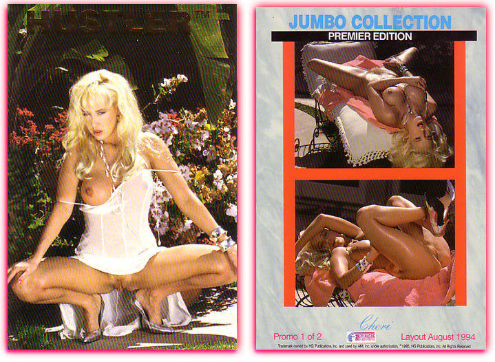 HUSTLER - Jumbo Collection - Premiere Edition - CHERI - Promo Card 1 of 2 - Large 4x6 Card