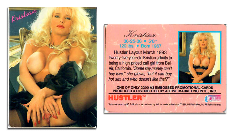 HUSTLER - SERIES III - ULTRA EMBOSSED Subset - Card A3 - KRISTIAN -  Limited Edition Active Marketing Version