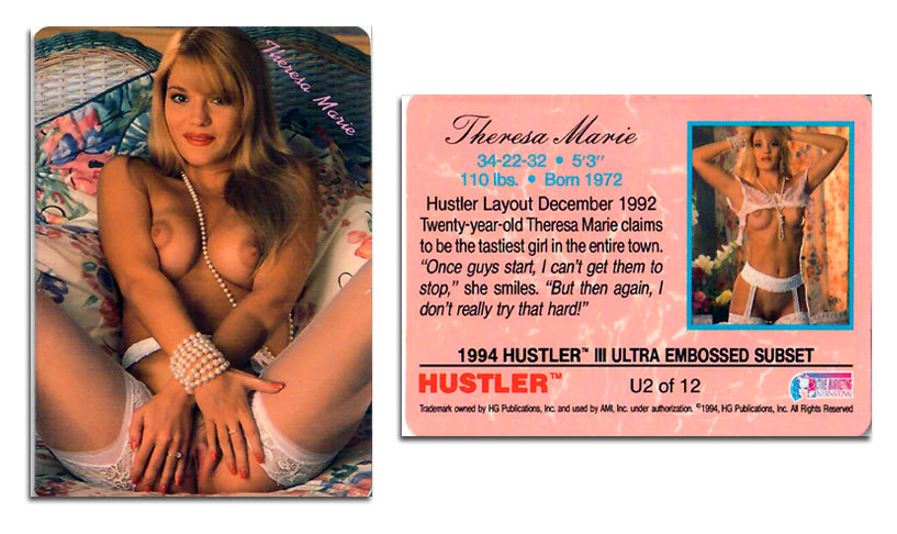 HUSTLER - SERIES III - ULTRA EMBOSSED Card U2 - THERESA MARIE