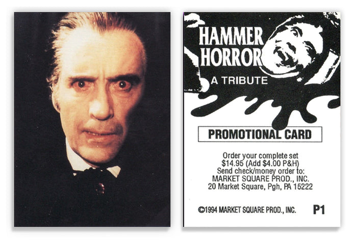 Hammer Horror - Market Square Productions - Tribute - P1 Promo Card - Rare