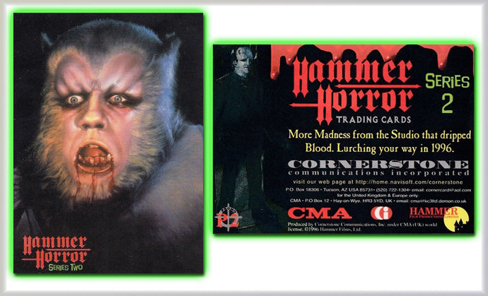 Hammer Horror Series 2 Cornerstone Ultra Rare Unreleased P2 Werewolf Promo Card