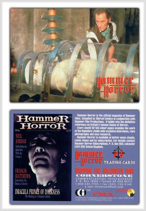 Hammer Horror Series 1 Cornerstone Promo Card P3