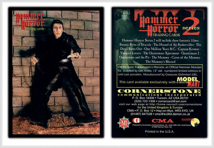 Hammer Horror Series 2 Cornerstone M1 The Curse of Frankenstein - Model Mart Exclusive