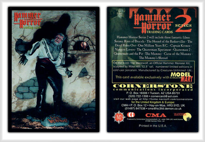 Hammer Horror Series 2 Cornerstone M2 The WereWolf - Model Mart Exclusive