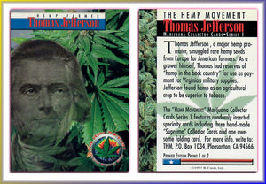 The HEMP Movement - Marijuana - Premiere Edition Promo Card 1 of 2