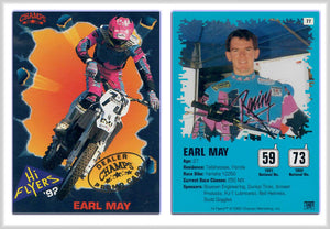 Hi-Flyers - Moto Cross Racing - Earl May - Card 77 - Gold Foil Dealer's Promo Card