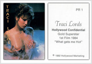 Hollywood Confidential - Traci Lords 'What Gets Me Hot' - Promo Card PR1 - Rare