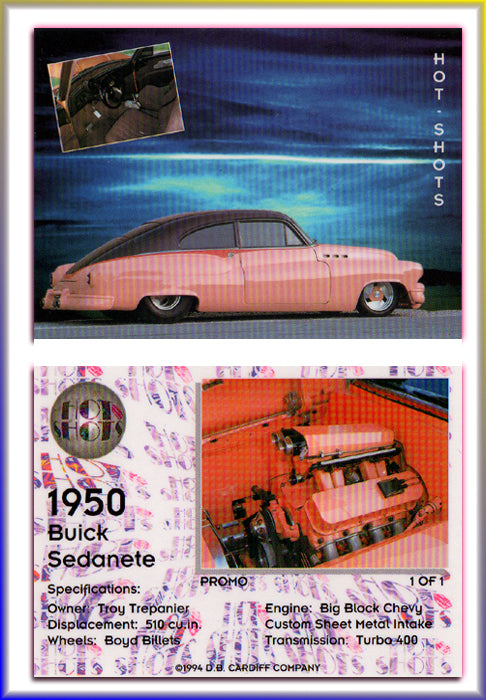 Hot Shots - HOT RODS - 1950 BUICK SEDANETTE - Promo Card
