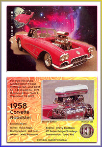 Hot Shots - HOT RODS - 1958 Corvette Roadster - Promo Card